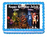 Five nights at Freddy's FNaF party edible cake image cake topper frosting sheet 1