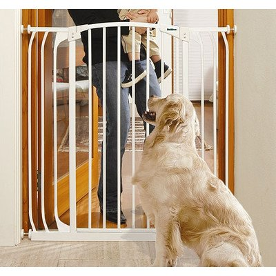Bindaboo Pet Gates - Extra Tall Hallway Pet Gate Finish: White