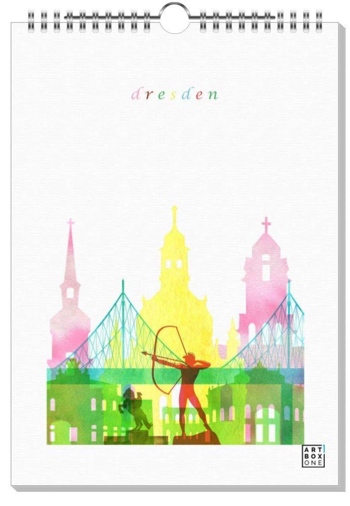 ArtboxONE Kalender 2019 Dresden City Maps Wandkalender A2 Städte Dresden B07H92Q858    | Erste Gruppe von Kunden
