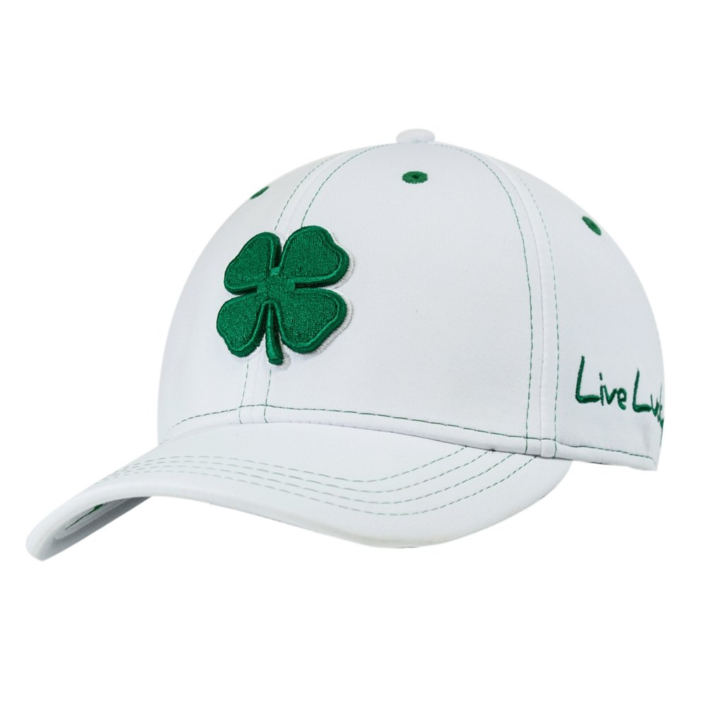 Black Clover Mens Premium Clover #16 Green/White/White Large/X-Large Fitted Hat - 608938654748