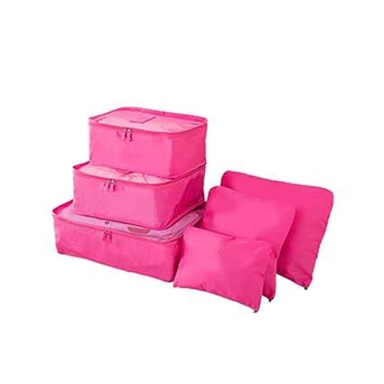 Bobury 6pcs / Set Impermeable Mujeres Ropa Interior Bras Almacenamiento de la Bolsa de Viaje de