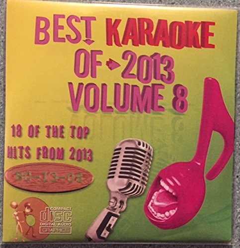 Best Of Karaoke 2013 Volume 8 CD+Graphics CDG 18 Pop & Country Tracks One Direction Pitbull Daughtry Katy Perry Taylor Swift Eric Church Jennifer Nettles Zac Brown Band John Mayer American Authors