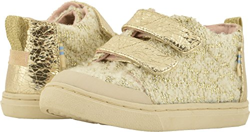 TOMS Kids Baby Girl's Lenny Mid (Infant/Toddler/Little Kid) White Slub Holiday Woven 5 M US Toddler -