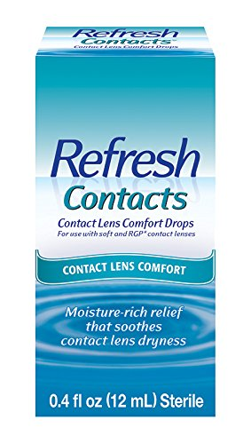 Refresh Contacts Contact Lens Comfort Drops, 0.4 Fluid Ounces (12 ml)
