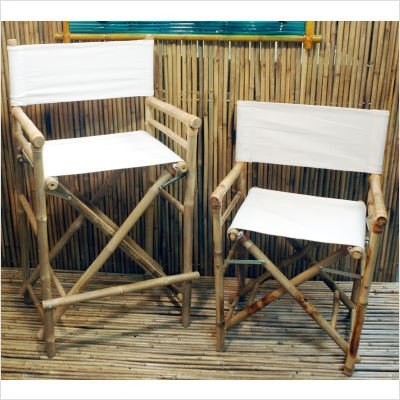 High Bamboo Director's Chair [Set of 2] by Bamboo