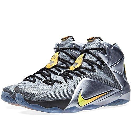 Nike - Lebron Xii - Couleur: Argent-Jaune - Pointure: 45.0