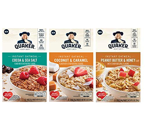 Quaker Instant Oatmeal Variety Pack, Specialty Flavors, 32Count