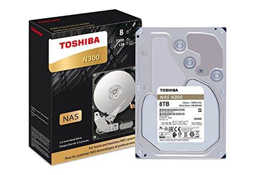 PC Hardware : Toshiba N300 8TB NAS 3.5-Inch Internal Hard Drive- SATA 6 Gb/s 7200 RPM 128MB (HDWN180XZSTA)