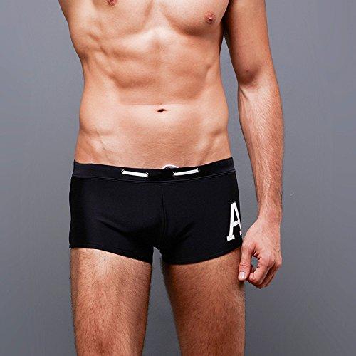 ZQ@QXBoxer hommes comfort-ajustage de grande taille maillot de plage pantalons,L,Black