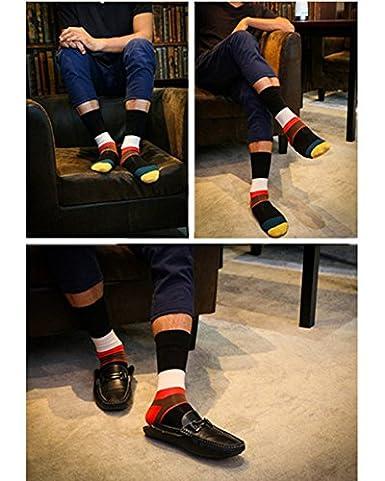 QBSM Calcetines Cortos rayas rombos para Hombres de Algodón, 38 - 41 EU: Amazon.es: Ropa y accesorios