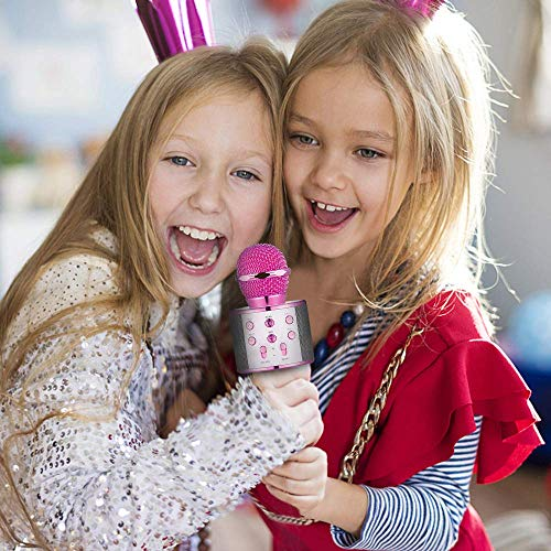 HahaGift Gifts for 3-14 Year Old Girls, Microphone Idea for Kids Toy Microphone for Kids Microphone Fun Toys for 3-14 Year Old Girls Boys Purple by HahaGift (Image #1)