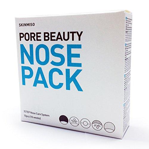[SKINMISO-KOREA] Pore Beauty Nose Pack Remove Blackhead & Whitehead 3 Step System (10 Weeks Program) / 1,2 Step x 10sheets, Cotton Swab x10ea, 3 Step Essence x 10ea by [SKINMISO-KOREA]