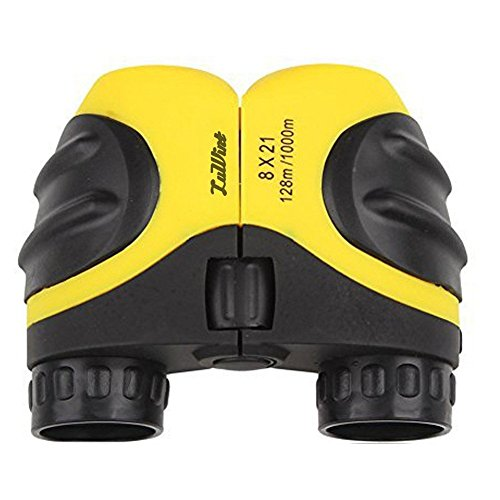 Luwint 8 X 21 Kids Binoculars for Bird Watching, Watching Wildlife or Scenery, Game, Mini Compact and Image Stabilized, Best Gifts for Children (Yellow)