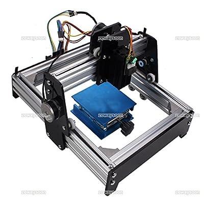 Zowaysoon 15W Mini Laser Engraving Machine Engraver DIY Logo Printer for Metal Steel Iron Stone