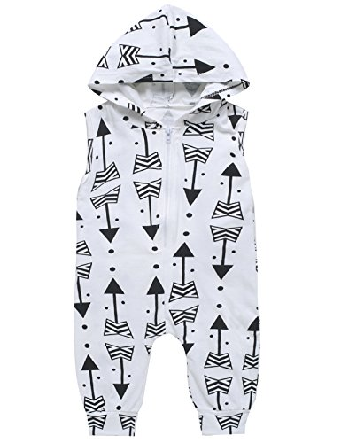 [iCrazy Baby Boys Girls Hippy Romper Arrow Print Clothes Outfit (3-6 Months)] (White Party Outfit Ideas)