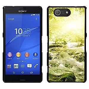 "For Sony Xperia Z3 Plus / Z3+ / Sony E6553 (Not Z3) , S-type Naturaleza Hermosa Forrest Verde 18"" - Arte & diseño plástico duro Fundas Cover Cubre Hard Case Cover"