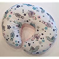 Minky Nursing Pillow Cover. No Problem Llama Blush Cuddle. You choose the Dimple Dot back. Back is pictured in Blush Dimple Dot.
