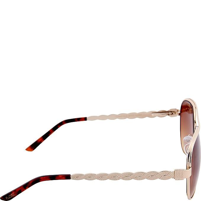 3ad5295701f Nanette Nanette Lepore Sunglasses Textured Aviator Sunglasses  (Silver White)  Amazon.ca  Luggage   Bags