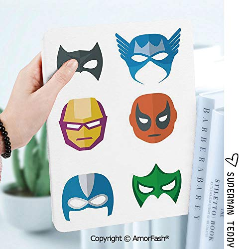 Ultra Lightweight Standing Cover for Galaxy Tab A 8.0 Inch SM-T380/T385 2017,Superhero Hero Mask Female Male Costume Power Justice People Fashion Icons Kids Display -