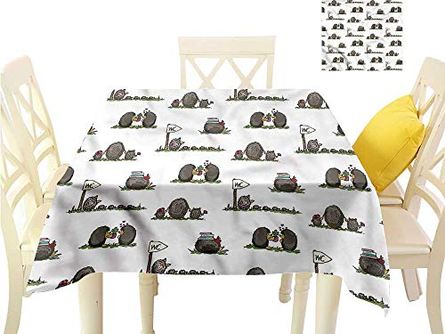 (Davishouse Square Polyester Tablecloth Life of Rodent Mammals Indoor Outdoor Camping Picnic W54 x)