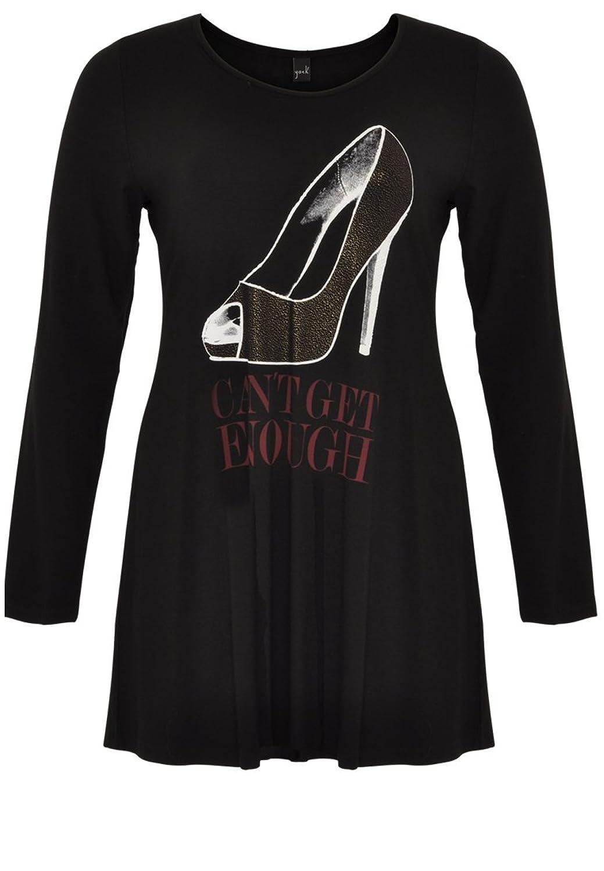 Yoek Damen T-shirt mit Druck Plus Size