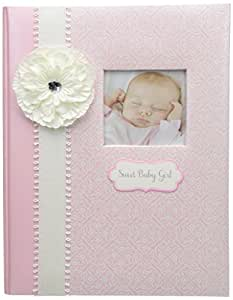 C.R. Gibson Pink and White 'Sweet Baby Girl' Loose Leaf First Five Years Baby Book, 64pgs, 10'' W x 11.75'' H