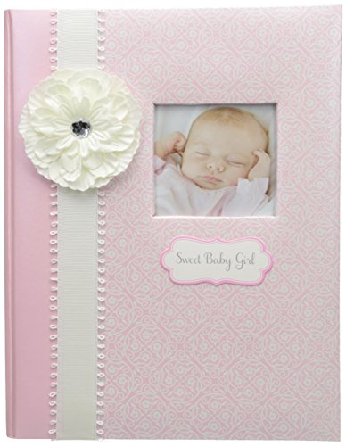 (C.R. Gibson Pink and White 'Sweet Baby Girl' Bound First Five Years Baby Book, 64pgs, 10'' W x 11.75'' H)