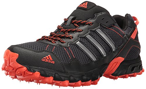 adidas Performance Men's Rockadia Trail M Running Shoe, Black/Black/Energy, 9.5 M US