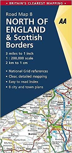 Road Map Britain 08 North of England & Scottish Borders 1 ...