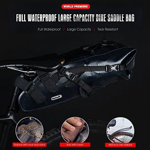 Fahrrad Satteltasche 10L Wasserdicht Hinter Fahrradtasche Aero Wedge Pack Satteltasche Mountainbike Bag
