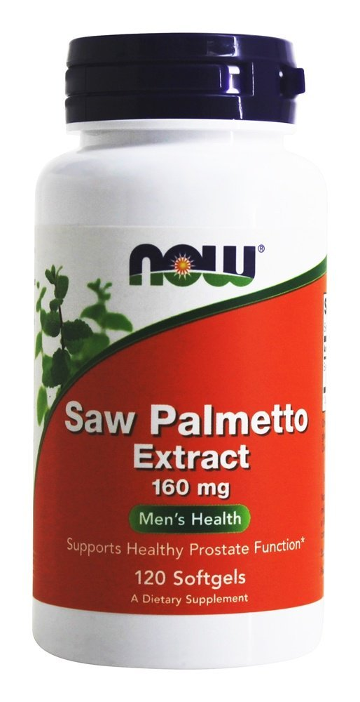 Now Foods Saw Palmetto Extract, 160mg, 120 Softgels