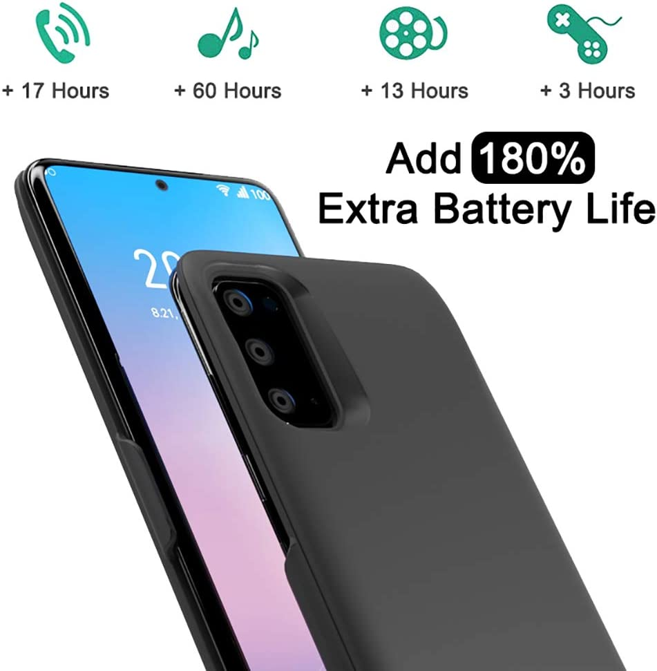 Backup Power Bank 7000mAh Portable Protective Charger Case Rechargeable Extended Battery Pack for Galaxy S20 Ultra Blue ANERNAI Battery Case for Samsung Galaxy S20 Ultra 6.9 inch