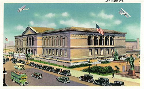 Chicago, Illinois - Exterior View of the Art Institute (24x36 SIGNED Print Master Giclee Print w/Certificate of Authenticity - Wall Decor Travel Poster)