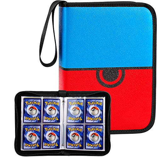 Trading Card Holder Album, 320 Pockets Sleeves Compatible for PM Cards Game with 40 Premium 8-Pocket Sheets