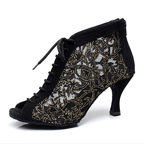 Jazz Onecolor una Sandalias Negro BYLE Hembra Suave Masa Tobillo de Modern Cuero Tacón Alto Latino Baile Samba Baile Adulta de de de Zapatos Zapatos HpgqwgxX