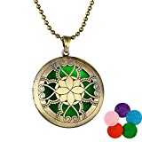 Dds5391 Attractive Retro Hollow Aromatherapy Essential Oil Diffuser Perfume Locket Pendant Necklace - #7