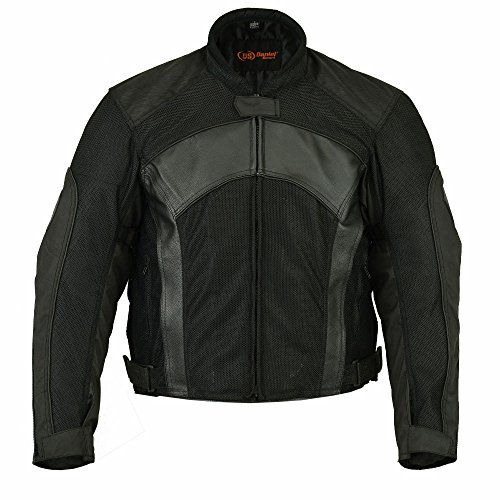 Padded Leather Motorcycle Jacket - 4