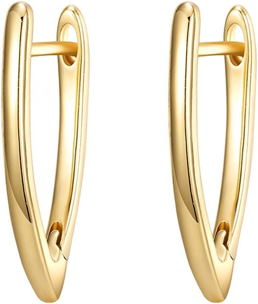 D430Geometric Hollow Big Hoop Earrings Retro Five-point Star Earrings Jewelry DM