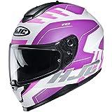HJC C70 Helmet - Koro (Medium) (White/Pink)