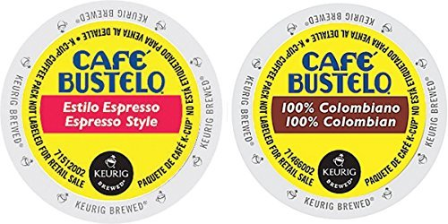 Cafe Bustelo - Espresso & 100% Colombian K-cup Combo Pack for Keurig 2.0 - 48 Count/24 Per Box (Cafe Bustelo Keurig)