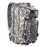 Hikingsters Tactical Military Backpack Nylon Water Resistant Military Outdoor Trekking Camping Tactical Molle Pack Multiple Color 30L by (Camouflage, 30L) For Sale