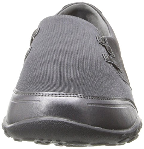 Leather Skechers Fashion Mesh Sneaker Forever Yours Women's Charcoal 4Fqw47