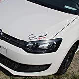 Racing Sports Auto Car Light Eyebrow Reflective Stickers Decor Car Front Decals Black
