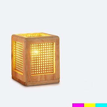 DT TD Lámpara de Mesa-Modernas y Minimalistas lámparas de Noche de Arte de Madera