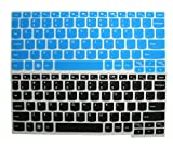AutoLive 2-Pack Keyboard Protector Skin Cover for Lenovo IdeaPad S206 S210 S210T / Yoga 11 11s / Yoga 2 11.6' /Yoga 3 11.6'/ Yoga 700 11.6/ IdeaTab K3011W K2450 / Flex 10 A10/Flex 3 11(Black+Blue)