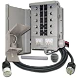 EmerGen EGS107501G2KIT Switch 10-7501G2, Detailed Instructions, Pi30 Power Inlet Box, Flexible Conduit, Liqui Tight Fitting and 10-Feet Power Cord