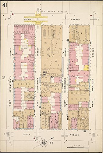 Map Poster - Manhattan, V. 2, Plate No. 41 [Map bounded by 6th Ave., W. 20th St., 5th Ave., W. 17th St.] 11