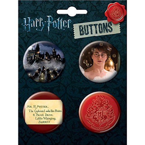 Price comparison product image Harry Potter Button Four Pack 4