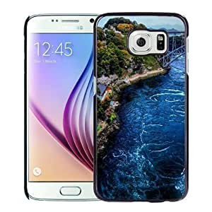 NEW Unique Custom Designed Samsung Galaxy S6 Phone Case With Japan Beach Coast_Black Phone Case