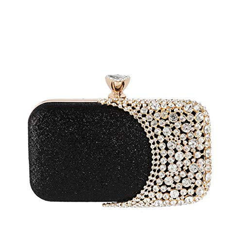 New evening bag banquet clutch bag evening bag female cosmetic bag black 20.5cm15cm6cm